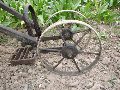 Fuller Twin Wheel Push Hoe c/w with Pair of Hoe Blade Attachments