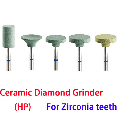 5pcs Dental Lab Ceramic Diamond Grinders for Zirconia Inner Crown CD series