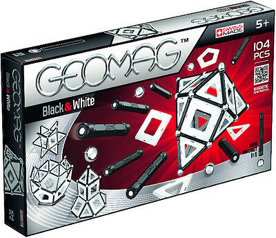 Beluga Geomag Panels Black & White 104-tlg.