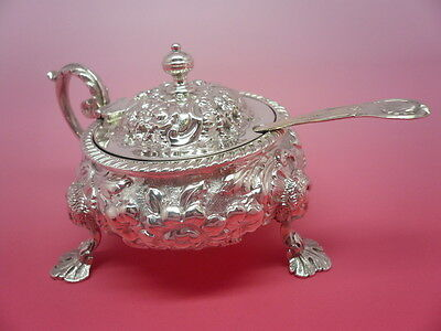 Antique Silver Mustard Pot SCOTTISH Hallmarked Edinburgh 1828