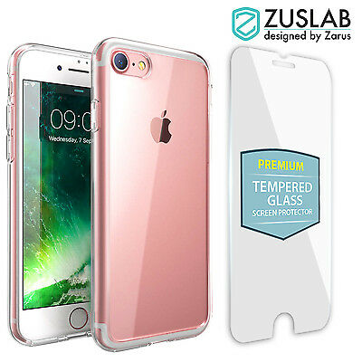 iPhone 8 7 Plus Case For Apple Zuslab Slim Hybrid Cover & Glass Screen Protector