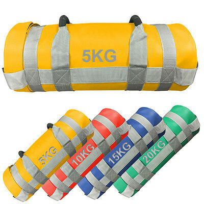Weighted Training Bag Power Sand bag Fitness Handles Weight Lifting Crossfit Bag