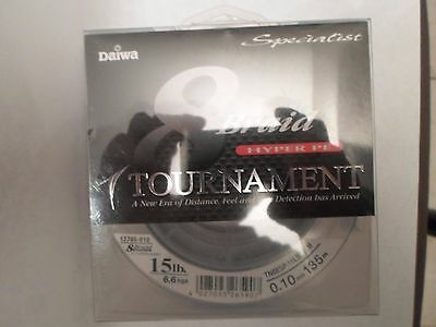 tournament braid hyper pe DAIWA  0.10mm 135 M 6,6 KG NEUF