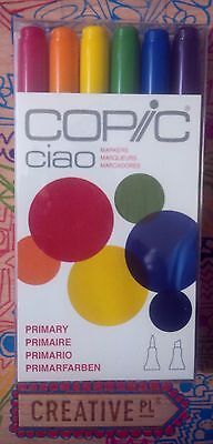 Copic Ciao Markers Primary 6 Pack -- Local Australian Stock--
