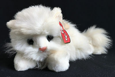 Ty 1987 Classic Plush Angel #1001 Long Haired White Persian Cat Retired Korea