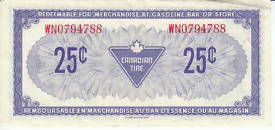 Canada Canadian Tire Store 1973 25 Cents RED Serial Number WN0794