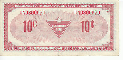 Canada Canadian Tire Store 1973 10 Cents UN9800  RED