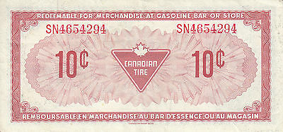 Canada Canadian Tire Store 1973 10 Cents  SN4654 RED
