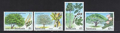 St Lucia. Forestry Resourees Sg699-702 1984 Mnh
