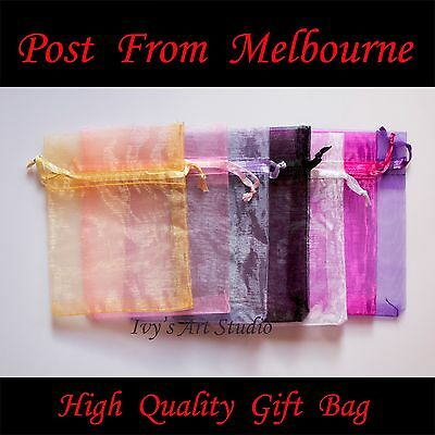 50/100 PCS Organza Bags Wedding Gift Pouch Bag Jewelry Packing SML