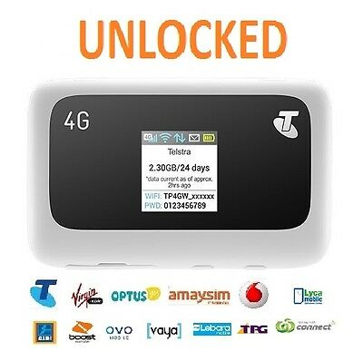 New *UNLOCKED* Telstra ZTE MF910 4G 4GX WIFI PLUS LCD Display (All Carriers)