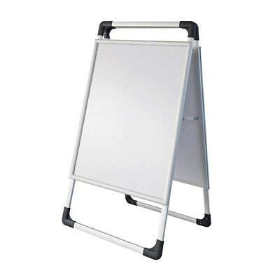 60*80cm Double sided Aluminum Frame Portable Folding Poster Display Stand