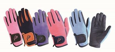 Hy5 Children's Every Day Two Tone Riding Gloves - Equestrian Horse Riding