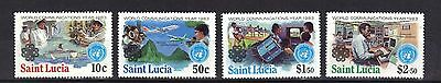 St Lucia. World Communication Year  Sg641-644 1983 Mnh