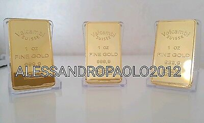 INGOT CREDIT SUISSE 29g PLACCATO D'ORO 24K BULLION ONE OUNCE PLATED IN FINE GOLD