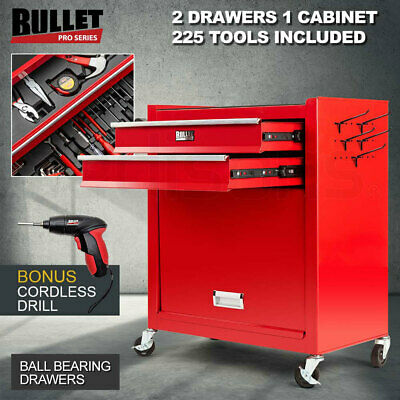 NEW Bullet 881 Piece Metric Tool Kit Cabinet Trolley Mechanic DIY Tool Set Box