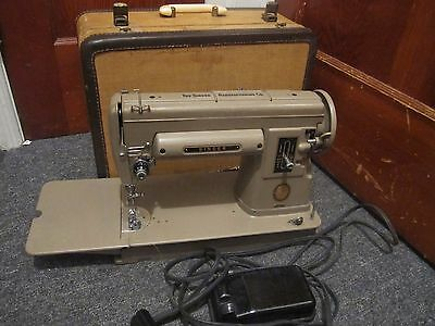 Singer Sewing Machine Model 301 with Case and Accessories