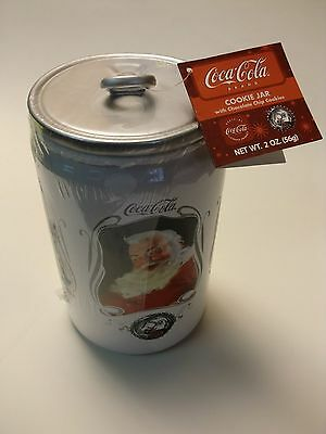NEW Coca Cola Can Christmas Santa 75th aniversary cookie jar