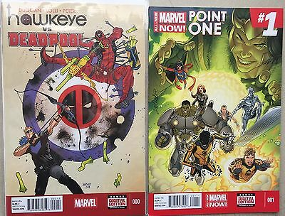 ALL-NEW MARVEL NOW! POINT ONE # 1•HAWKEYE VS. DEADPOOL # 0 (VF)•NeW MS. MARVEL