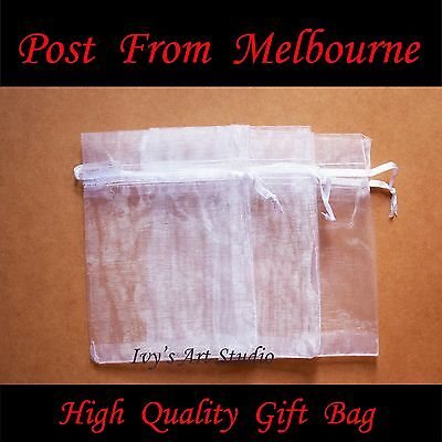 30/50/100 PCS White Organza Bags Wedding Gift Pouch Bag Jewelry Packing MED