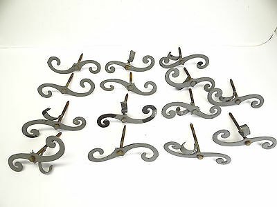 Vintage Lot Aluminum Painted Gray Metal Architectural Hardware Shutter Stays