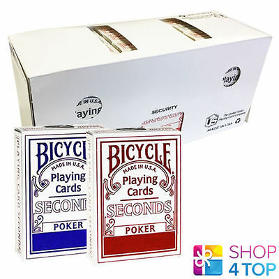12 Decks Bicycle Seconds Standard Index Spielkarten Versiegelt Box Uspcc Neu