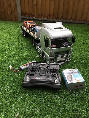 Tamiya 1:14 Man Truck And Flatbed Trailer With 6 Channel Radio
