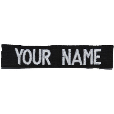 Custom RipStop Name Tape - Black