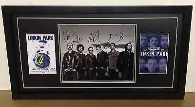 Linkin Park Hand Signed/Autograph Photograph with a COA