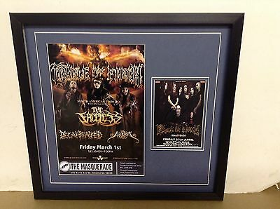 Cradle of Filth Hand Signed/Autographed Flyer with a Photograph with COA
