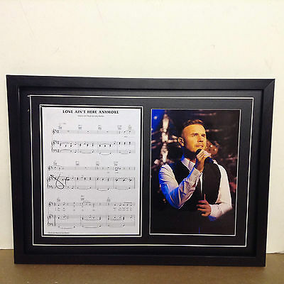 Gary Barlow (Take That) Signed/Autographed Songsheet with a Photograph with COA