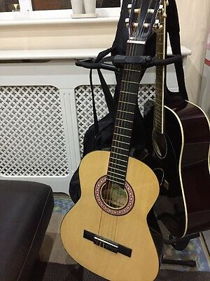 Half Size Acoustic Guitar Rainbow Colors Strings Children's Size And Book