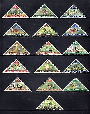 Republic Maluku Selatan 1953  Set Of 16 Stamps M/m