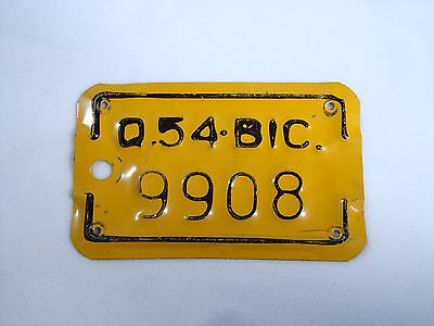 1954 QUEBEC Bicycle License Plate #9908