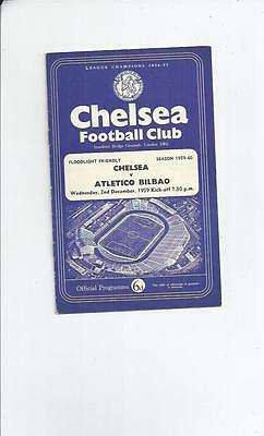 Chelsea v Atletico Bilbao Friendly Programme 1959/60