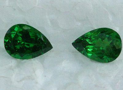 1.87 Carats Tsavorite Garnet Pair - Top Bright Emerald Green Color