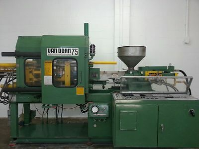 Van Dorn 75 Ton Plastic Injection Molding Machine Molder