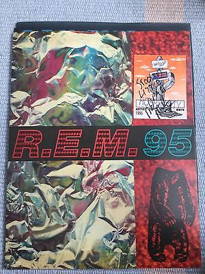 R.e.m. Tour Program With Ticket Stubbs And Hospitality Pass