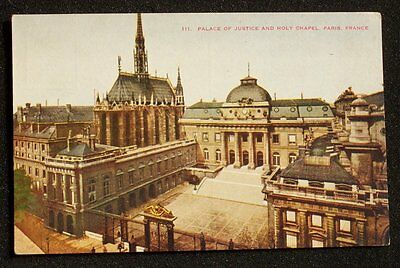 1910s Palace of Justice and Holy Chapel Paris France Postcard