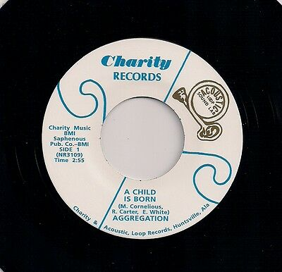 """70's FUNK 7"""" AGGREGATION A CHILD IS BORN CAN YOU FEEL IT US CHARITY 2nd ISSUE"""