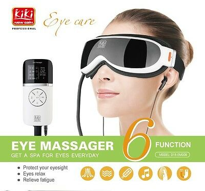 New Air pressure Eye massager with mp3.6 functions eye care far-infrared heating