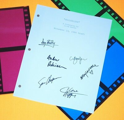 Hellraiser Movie Signed Script Rpt Clive Barker, Doug Bradley, Claire Higgins