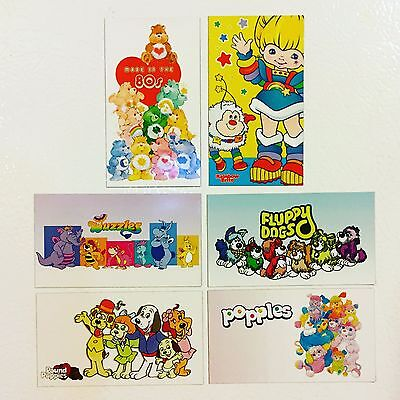 80s Magnets (Set): Care Bears, Rainbow Brite, Fluppy Dogs, Wuzzles, Popples +