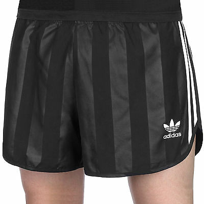 adidas Originals Mens 3 Stripe Tonal Retro Football Shorts - Black