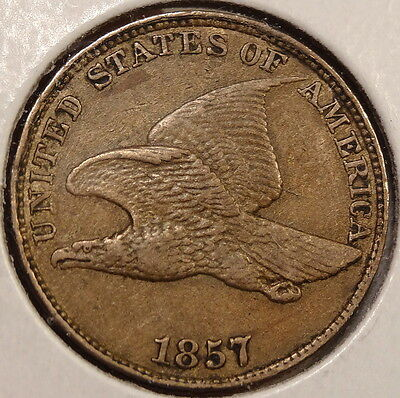 1857 Flying Eagle Cent, Extremely Fine, Nice Original Coin  0530-01