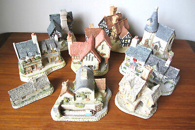 Large Lot David Winter Cottages Hand Made Painted John Hine Great Britain