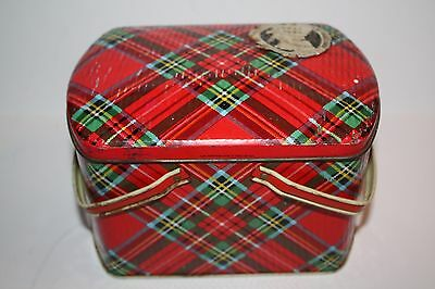 Vintage Gray & Dunn Scotland Plaid Biscuit Tin