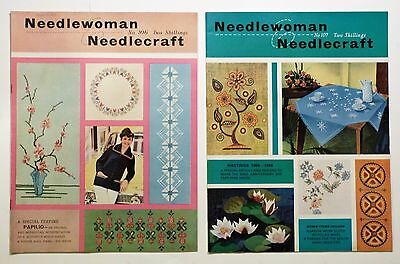 2 x Needlewoman And Needlecraft No.106 & 107, With Transfers, See Description.