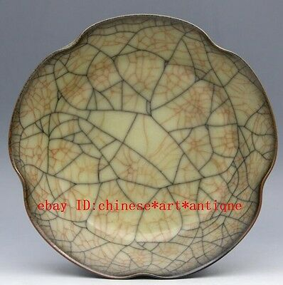 chinese ancient yellow glaze porcelain sculpture Gold wire wash