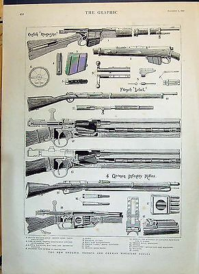 1890 English French German Magazine Rifles War Weapons Henry Roby 492M142